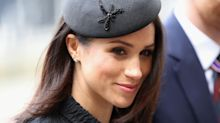 Meghan Markle channels Jackie Kennedy in bespoke black suit and beret
