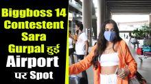 Biggboss 14 Contestent Sara Gurpal Spotted at Airport