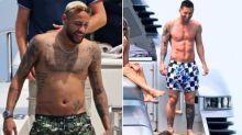 內馬爾度假包遊艇出遊,網友驚見他的肚子微凸