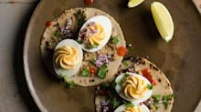 Deviled Egg Tacos with Sikil Pak from 'Tacos'