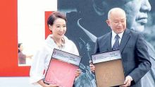 John Woo leaves handprint in Busan