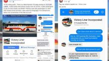 Victory Liner Inc. posts warning against hoax account