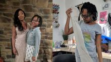 14-year-old makes older sister custom dress to wear to prom: 'Her date was even taken aback'