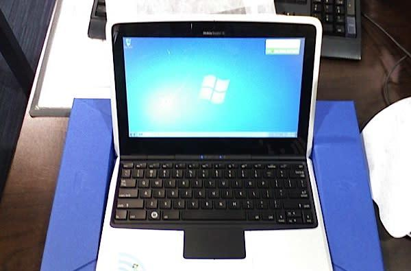 Nokia Booklet 3G running Windows 7 Starter unwrapped at Best Buy