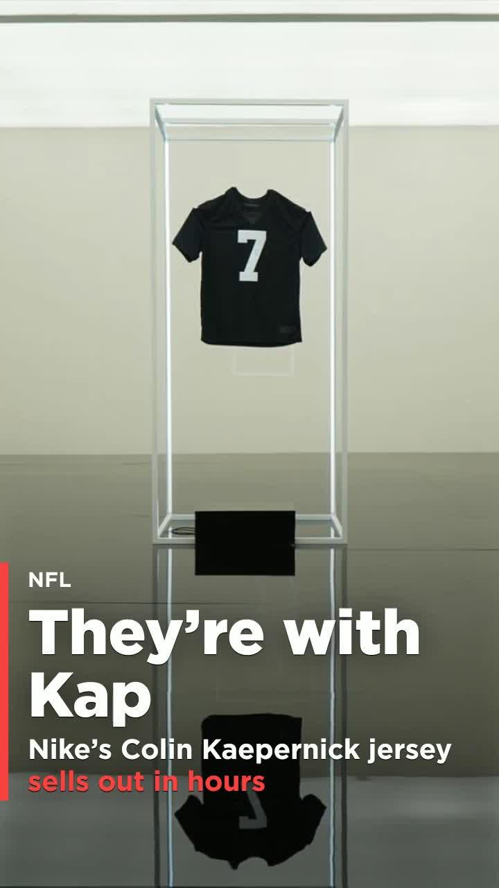 31f4c12e7bc7 Nike s  Icon  Colin Kaepernick jersey sells out in hours  Video