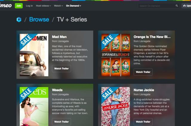Vimeo's on-demand TV store is now available in 150 countries