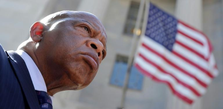"John Lewis spent his life getting into what he liked to call ""good trouble"" -- the confrontations necessary to improve American democracy (AFP Photo/CHIP SOMODEVILLA)"