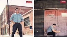 Plus-size male model who stars in Levi's new campaign says, 'Big guys like to look good too'