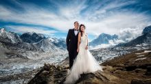 Couple Becomes First to Wed at Mt. Everest Base Camp in Tux and Wedding Gown