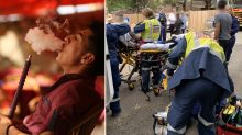 Man rushed to hospital after shisha pipe he was smoking burst into flames