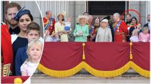 Why Meghan and Harry stood at the back of the balcony at Trooping the Colour