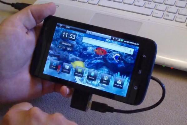 Dell Streak procures a hacked-up mini USB adapter, gets friendly with your dusty cables
