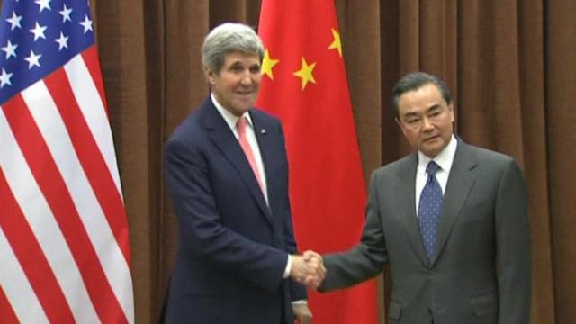 Kerry meets Chinese FM Wang
