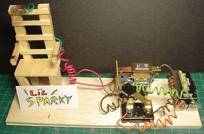 Create your own miniature electric chair