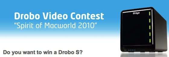 "Drobo is having a ""Spirit of Macworld 2010"" video contest"