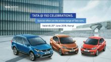 Tata Motors announces special offers on its passenger cars to commemorate 150 years of the Tata Group