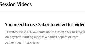 WWDC 2011 videos reportedly not working in some browsers