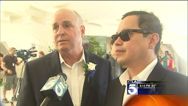 Same-Sex Couples Tie the Knot in West Hollywood