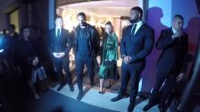 Rio Ferdinand and girlfriend Kate Wright attend Fendi event