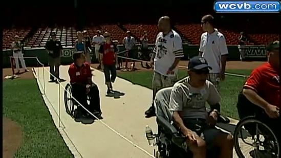 Disabled Vets spend dream day at Fenway