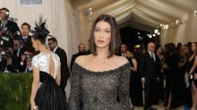 Bella Hadid didn't wear a see-through jumpsuit to the 2018 Met Gala