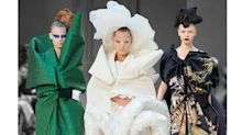John Galliano Utilizes Burlap and Plastic Wrap For His First Couture Show in Paris Since 2011