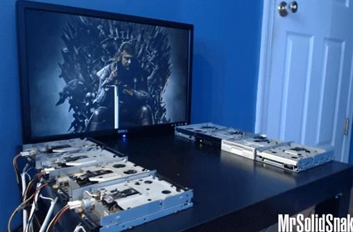 Eight floppy drives recreate the theme from Game of Thrones, stake claim to the seven Kingdoms