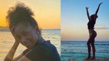 Iza exibe o cabelo natural durante viagem à Jamaica
