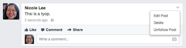 Facebook finally allows you to edit your embarrassing tyops, er, typos