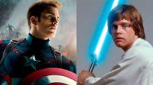 ¿Puede el sable de Luke Skywalker destruir el escudo de Capitán América? ¡Mark Hamill y Chris Evans encienden el debate!