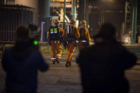 Rescue personnel prepare to search for missing miners after a methane explosion at the CSM hard coal mine in Karvina, Czech Republic, December 20, 2018. REUTERS/Stringer