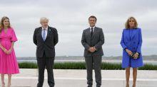 Brigitte Macron très élégante, la reine Elizabeth II tout sourire et bien entourée… Retour en photos sur le premier jour du G7 2021