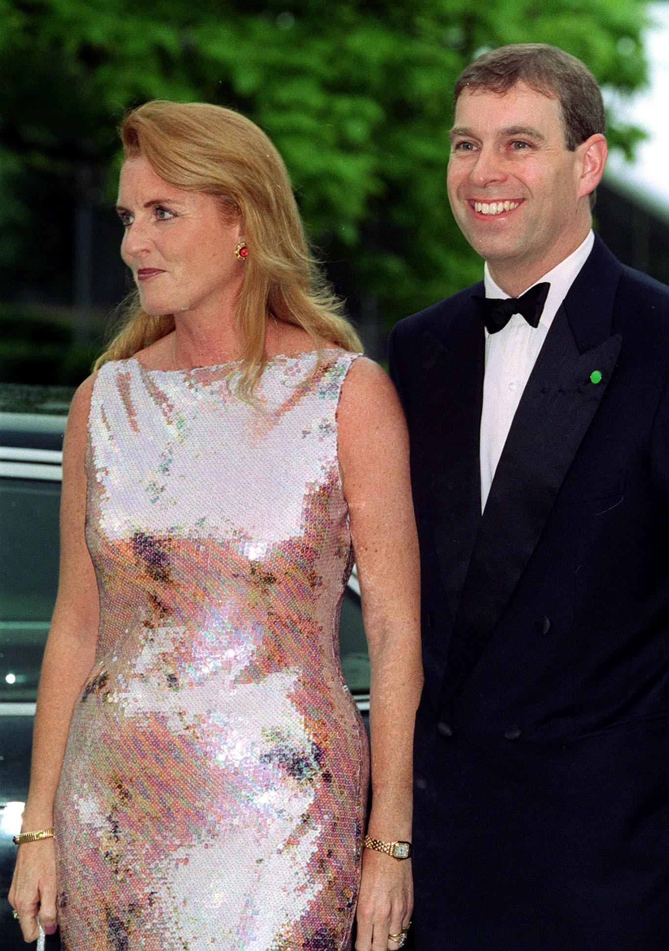 The Duke and Duchess of York arriving at the Serpentine Gallery 30th Anniversary Gala Dinner, in London.  The Duchess is wearing a dress by Ben de Lisi.