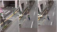 日本超熱誠交通督導員 落力指揮影片Twitter熱傳