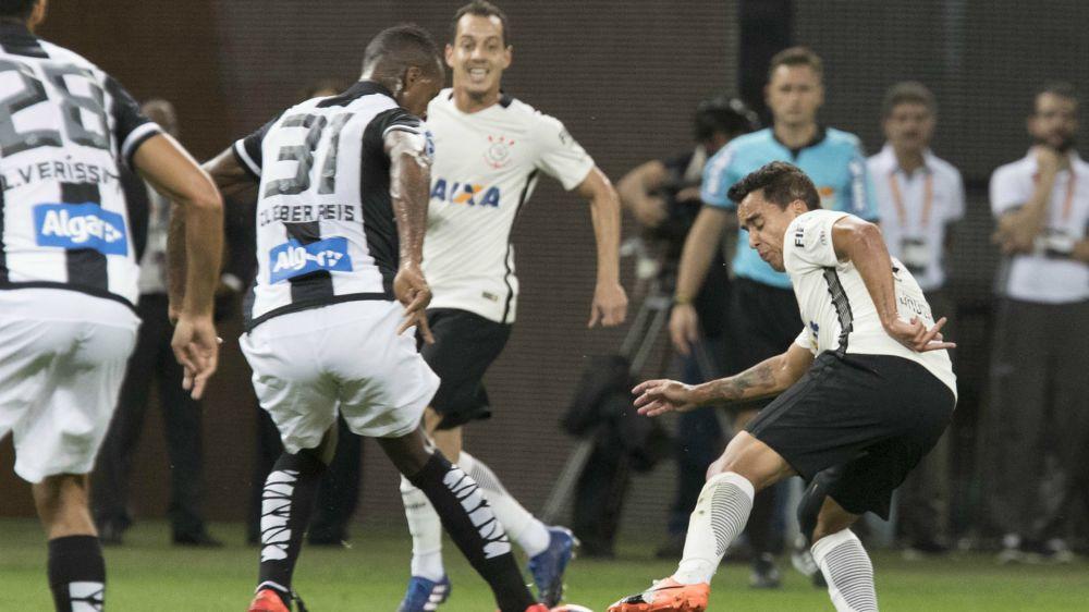Jadson e Cleber - Corinthians x Santos - 4/03/2017