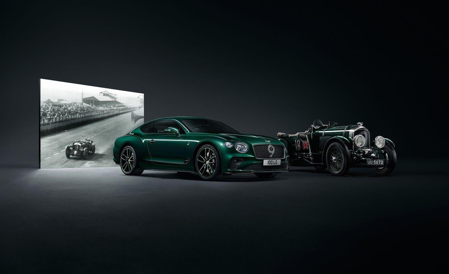 <p>Available in either Viridian Green or Beluga Black, the Number 9 special features specific No. 9 badgework and a matching graphic on the front grille. Rolling stock is provided by color-matched 21-inch, 10-spoke wheels. Bentley's Blackline Specification and carbon body kit complete the picture.</p>