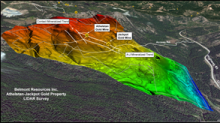 Belmont 3DIP Survey Identifies Strong Chargeability-Resistivity Anomalies Beneath Athelstan and Jackpot Gold Mines