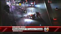 1 Dead, Several Injured In 3-Car Crash On 118 Freeway