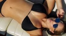 Ashley Graham Looks Smoking Hot As She Debuts First Swimwear Collection