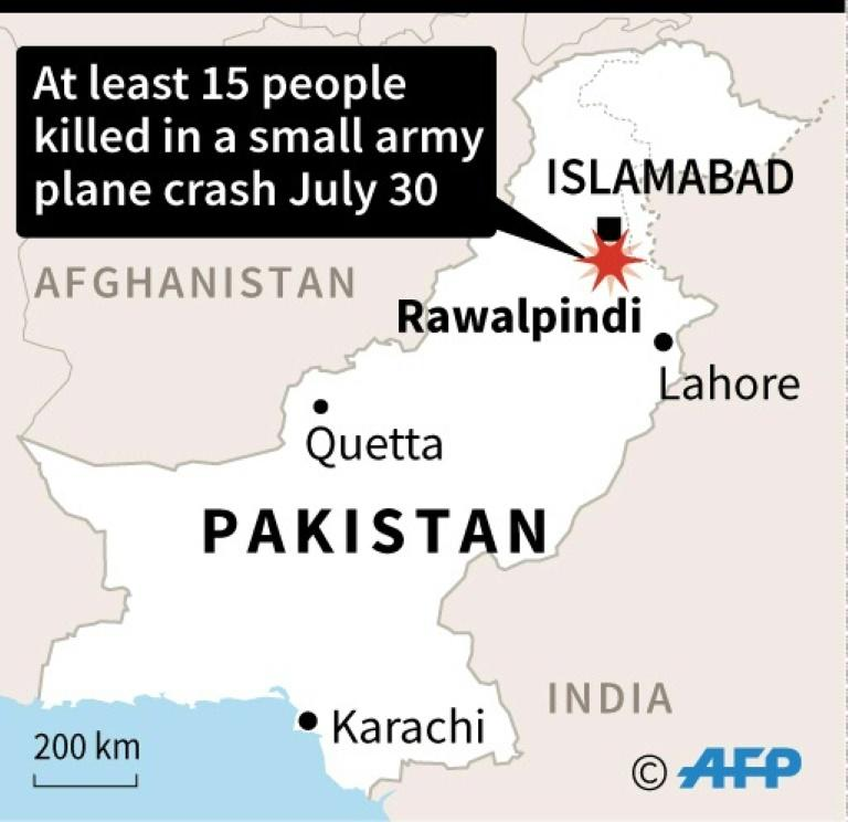 At least 18 killed as small plane crashes into Rawalpindi