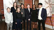 Angelina Jolie makes rare appearance with all six of her children in New York