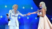 Lady Gaga and Glenn Close tied to win a big award and it sounds quite awkward