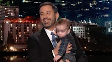Jimmy Kimmel Holds Back Tears as He Returns to Late Night With Son Billy in His Arms