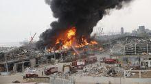 Wieder Großfeuer im Hafen von Beirut