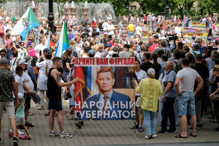 Fourth week of anti-Kremlin protests at Russia's far