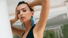 Emily Ratajkowski strips down to promote clothing line