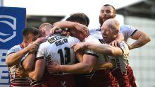 Wigan rally to go four points clear, Rhinos thrash Salford