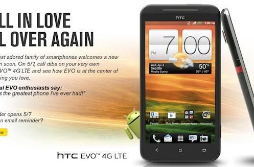 HTC EVO 4G LTE pre-order page goes live on Sprint's website, fanboy early birds rejoice