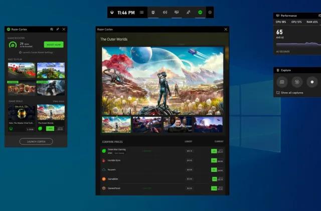 Xbox Game Bar's new widgets link to apps like XSplit