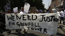 The #DayOfRage protest has been accused of hijacking Grenfell Tower for political means